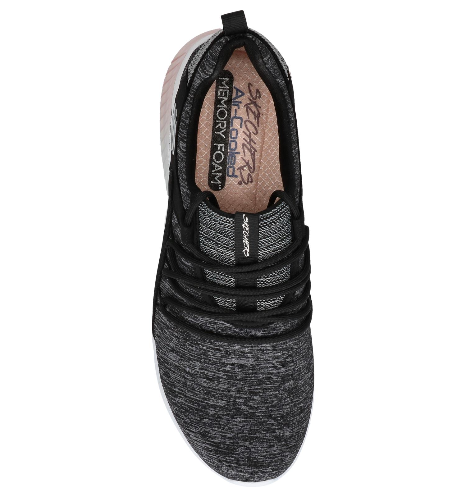 Donkergrijze Slip on Sneakers Skechers Skech air | TORFS.BE