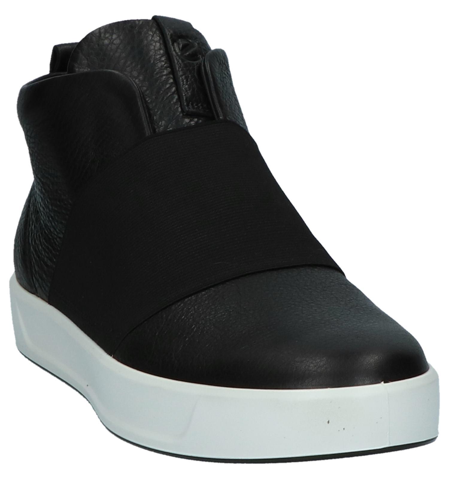 Ecco Zwarte Hoge Sneakers Soft 8 OnPk08wX
