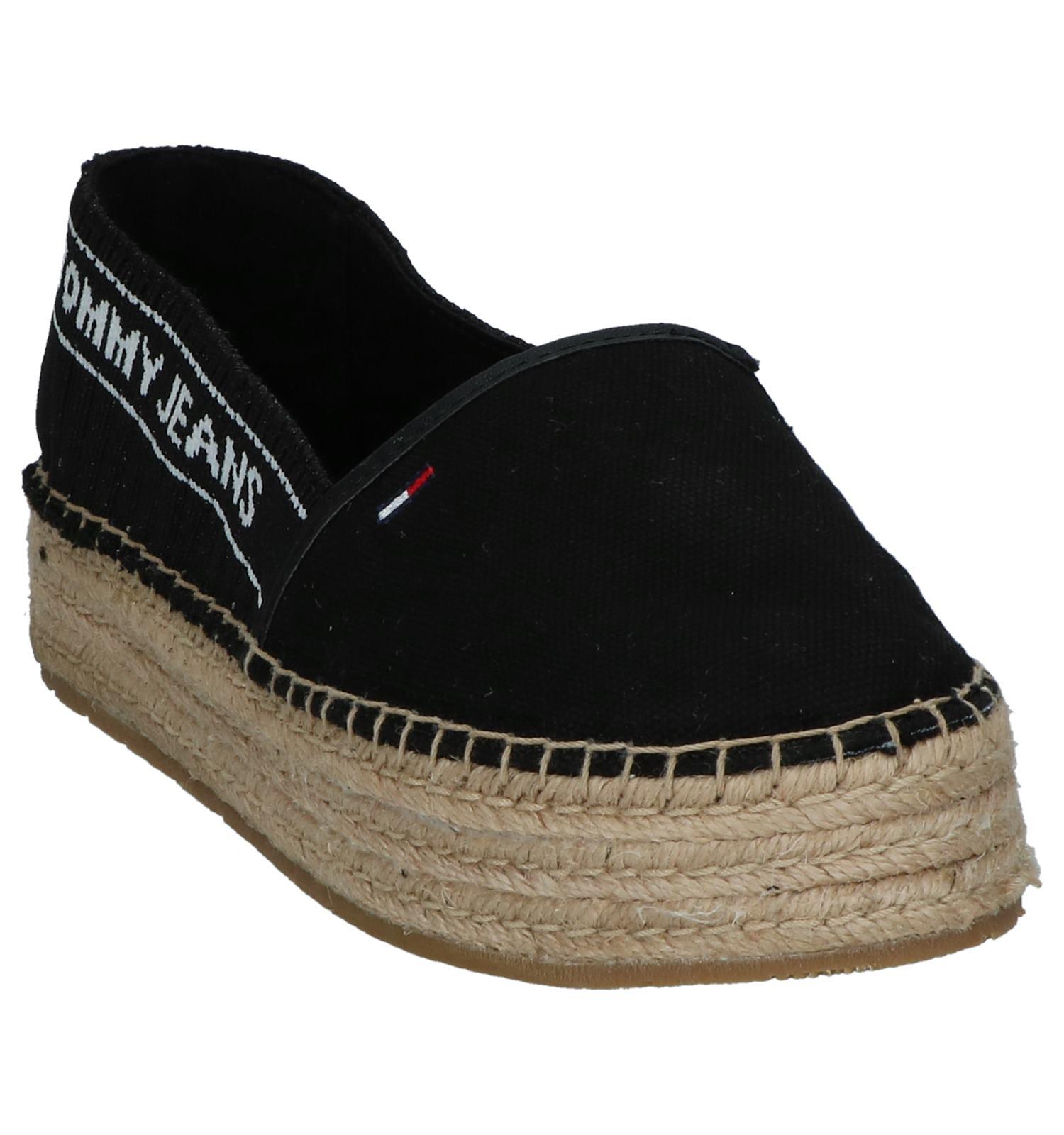 Espadrilles Hilfiger Tommy Knit Jeans Zwarte TlK1c3JF