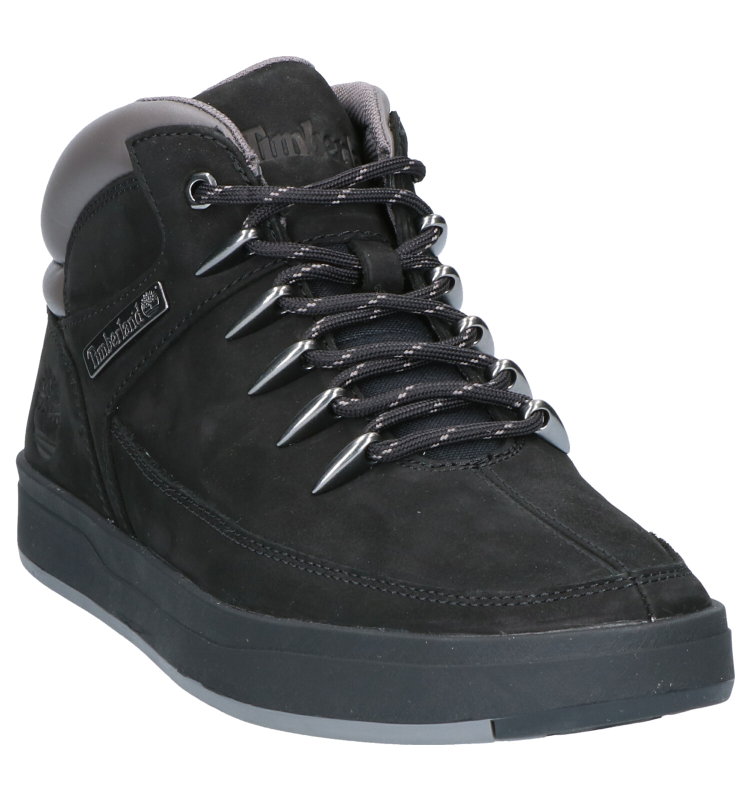 Hiker Timberland Boots Zwart Davis Square H9W2EDIY