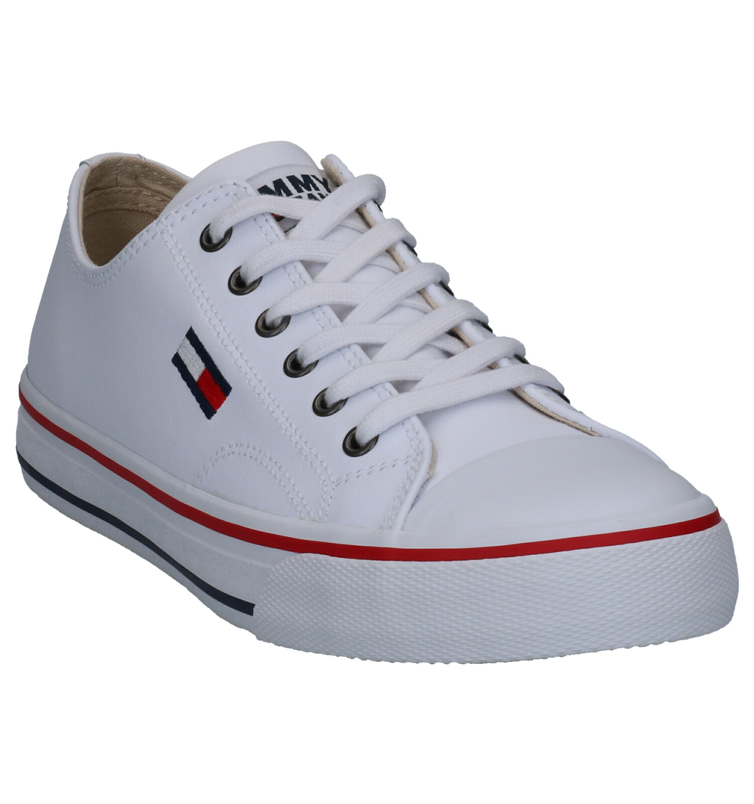 Tommy Hilfiger Leather City Witte Sneakers | SCHOENENTORFS
