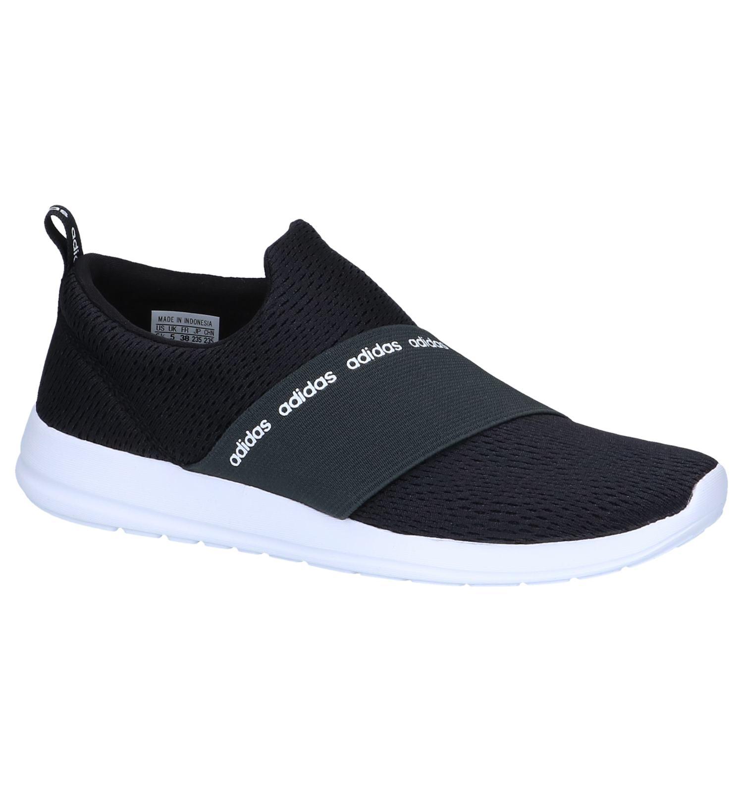 Zwarte Slip on Sneakers adidas CF Refine Adapt | SCHOENENTORFS.NL | Gratis verzend en retour