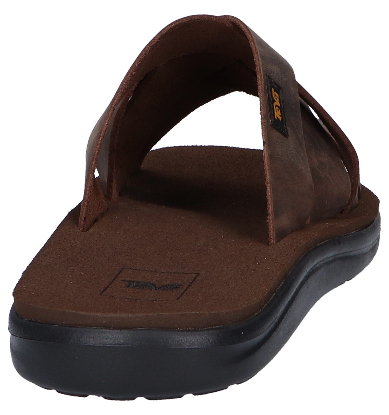 Leather Teva Slide Voya Bruine Slippers xdCroeB