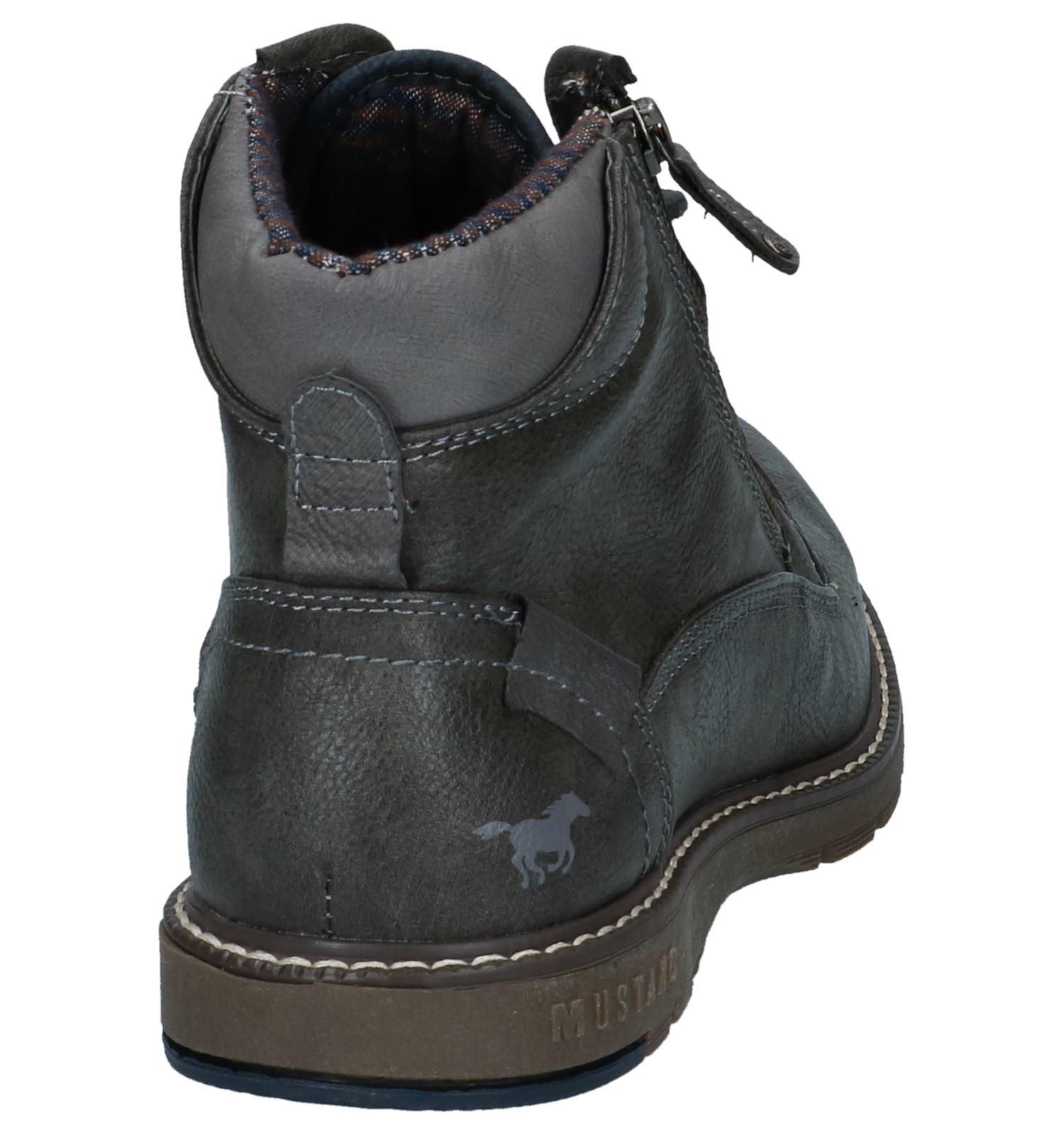 Donker Mustang Grijze Grijze Donker Boots nNOvm8w0