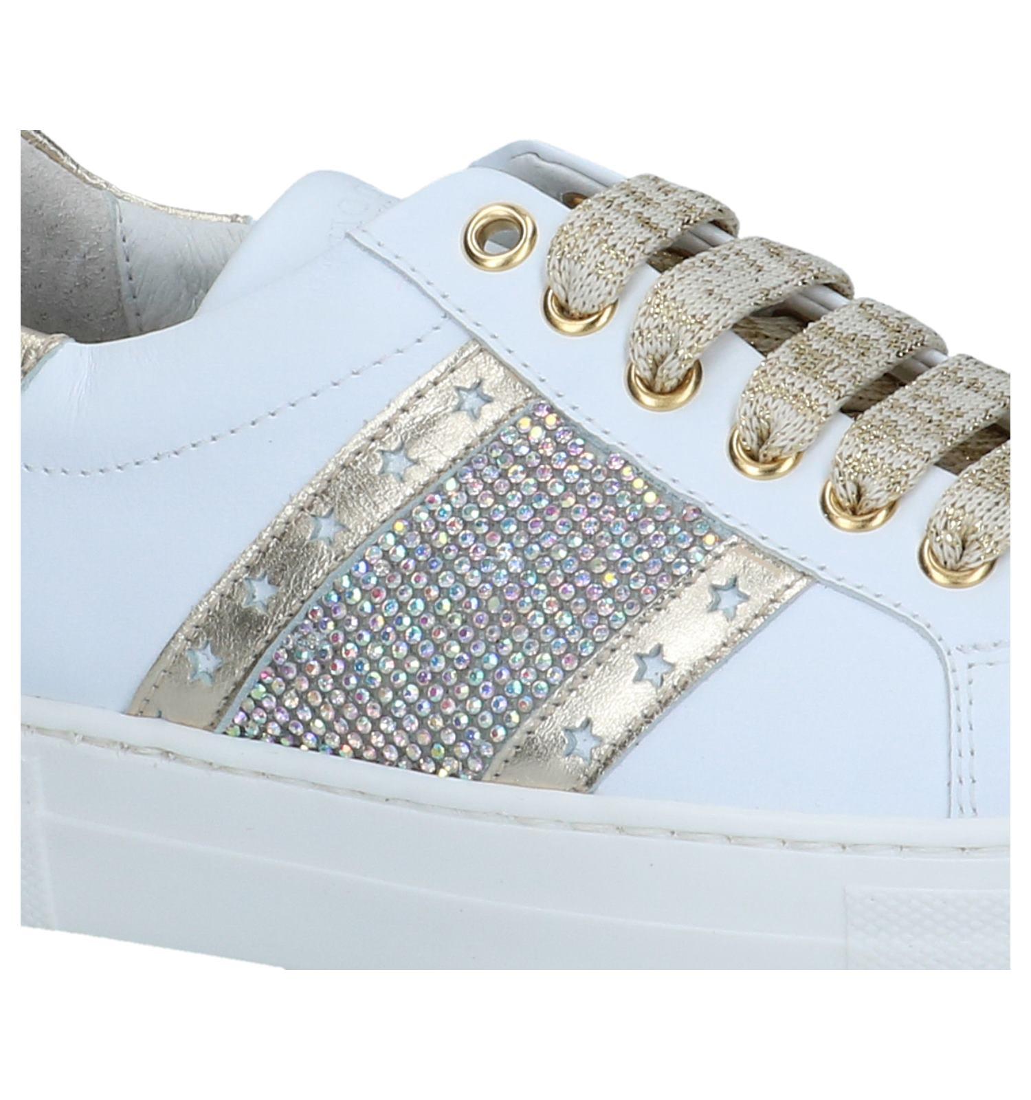 Witte Geklede Sneakers Hoops | SCHOENENTORFS.NL | Gratis