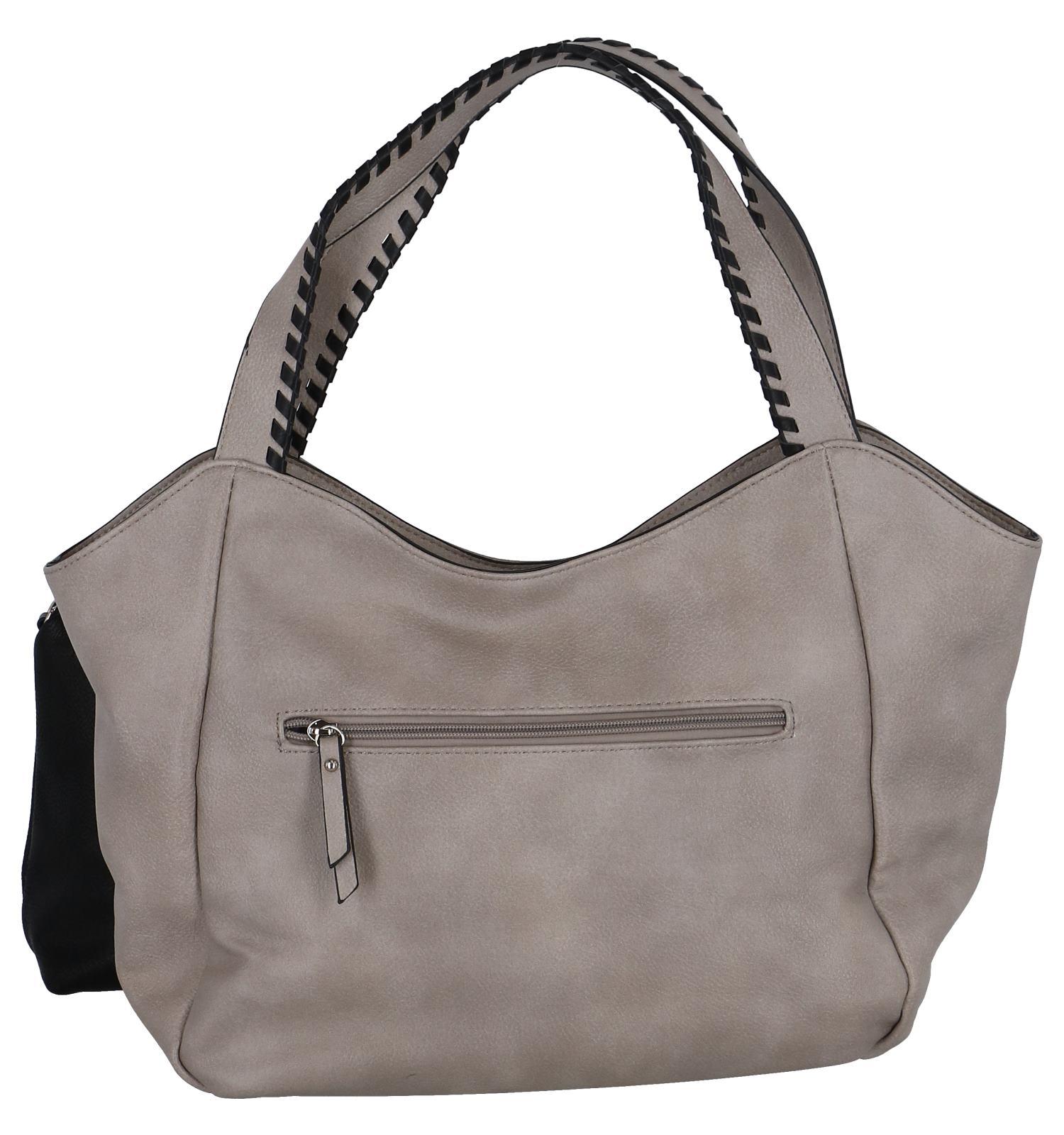 Taupe Bag in Bag Schoudertas Emily & Noah | SCHOENENTORFS.NL