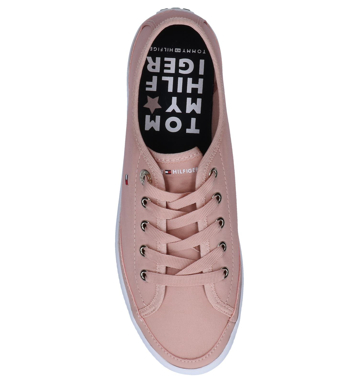 Tommy Hilfiger Sneakers Flatform Roze Corporate 5Aj34RLq