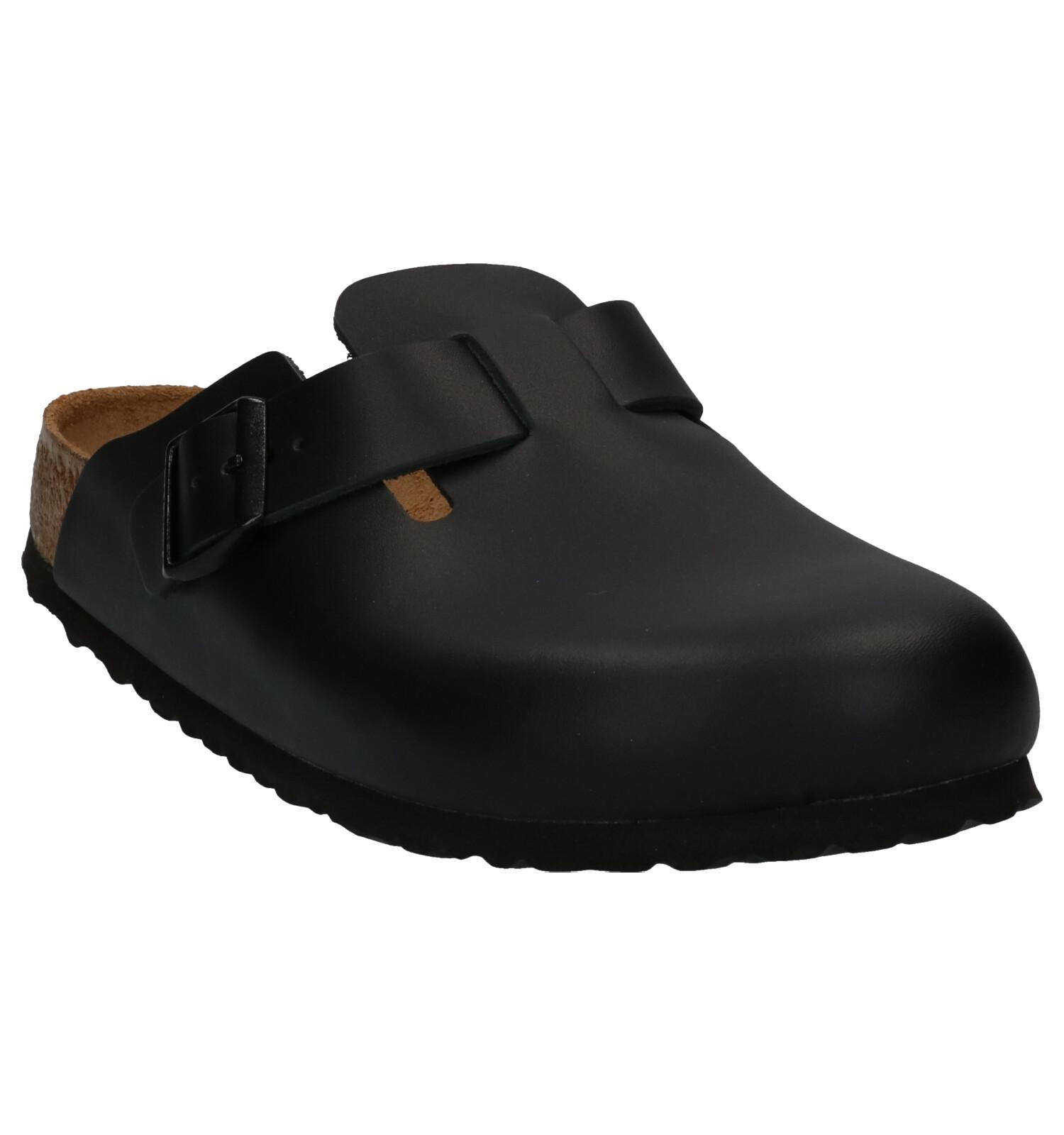 Zwarte Zwarte Slippers Birkenstock Birkenstock Birkenstock Slippers Boston Boston NwvO8n0m
