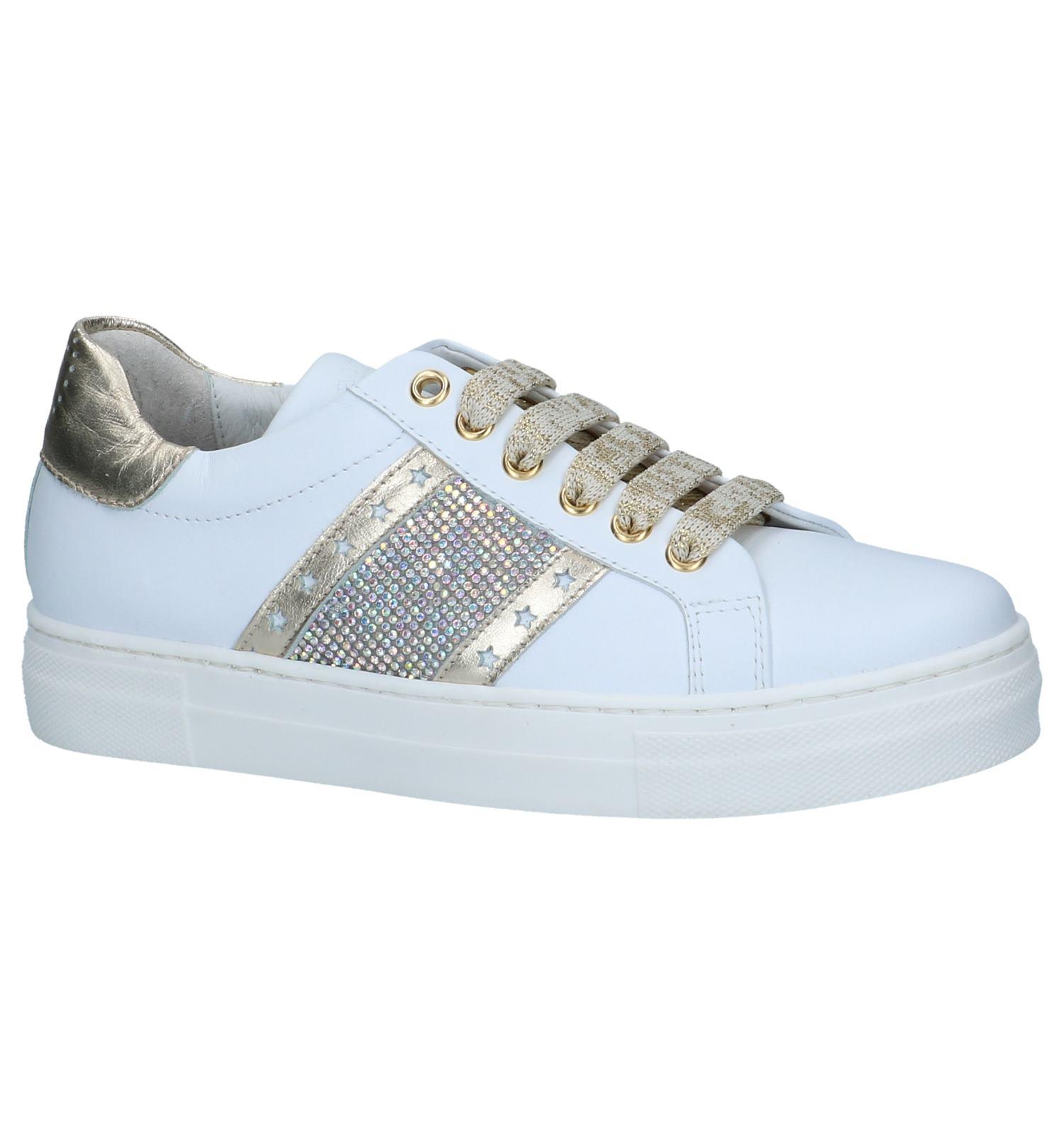 Witte Geklede Sneakers Hoops | SCHOENENTORFS.NL | Gratis verzend en retour