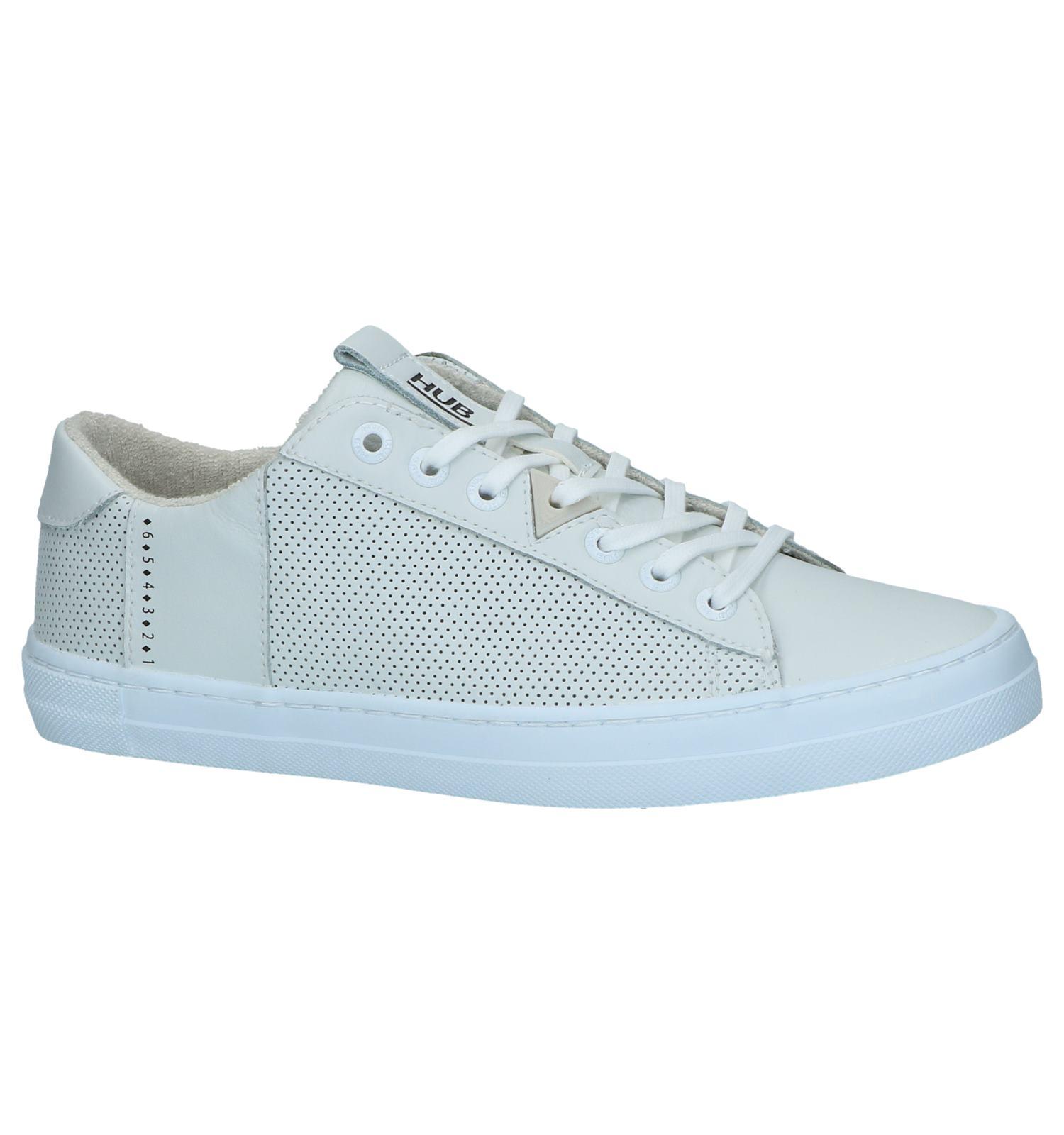 Witte Geklede Sneakers Hub Hook | SCHOENENTORFS.NL | Gratis verzend en retour