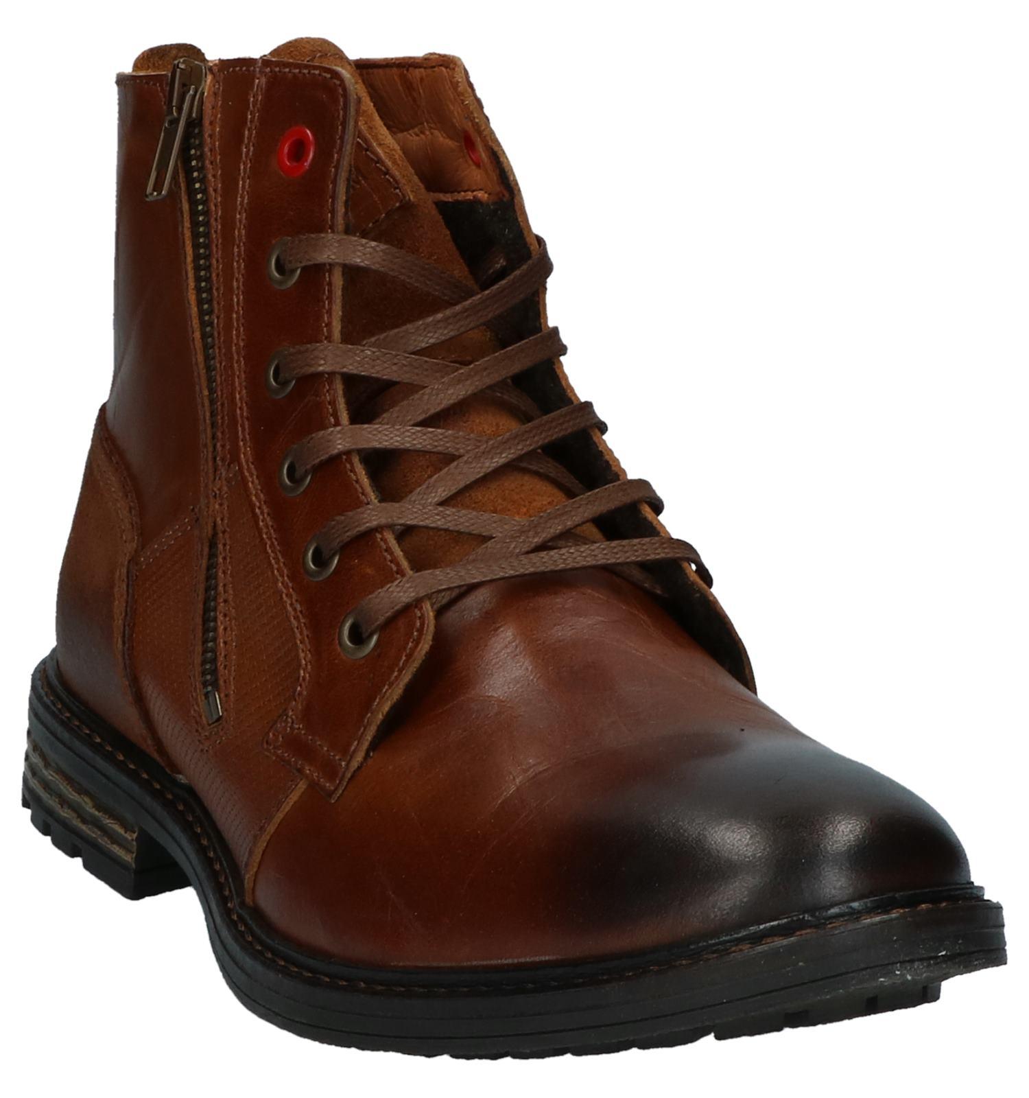 Woods Kola Boots veter Rits River Cognac Met 4L3ARj5