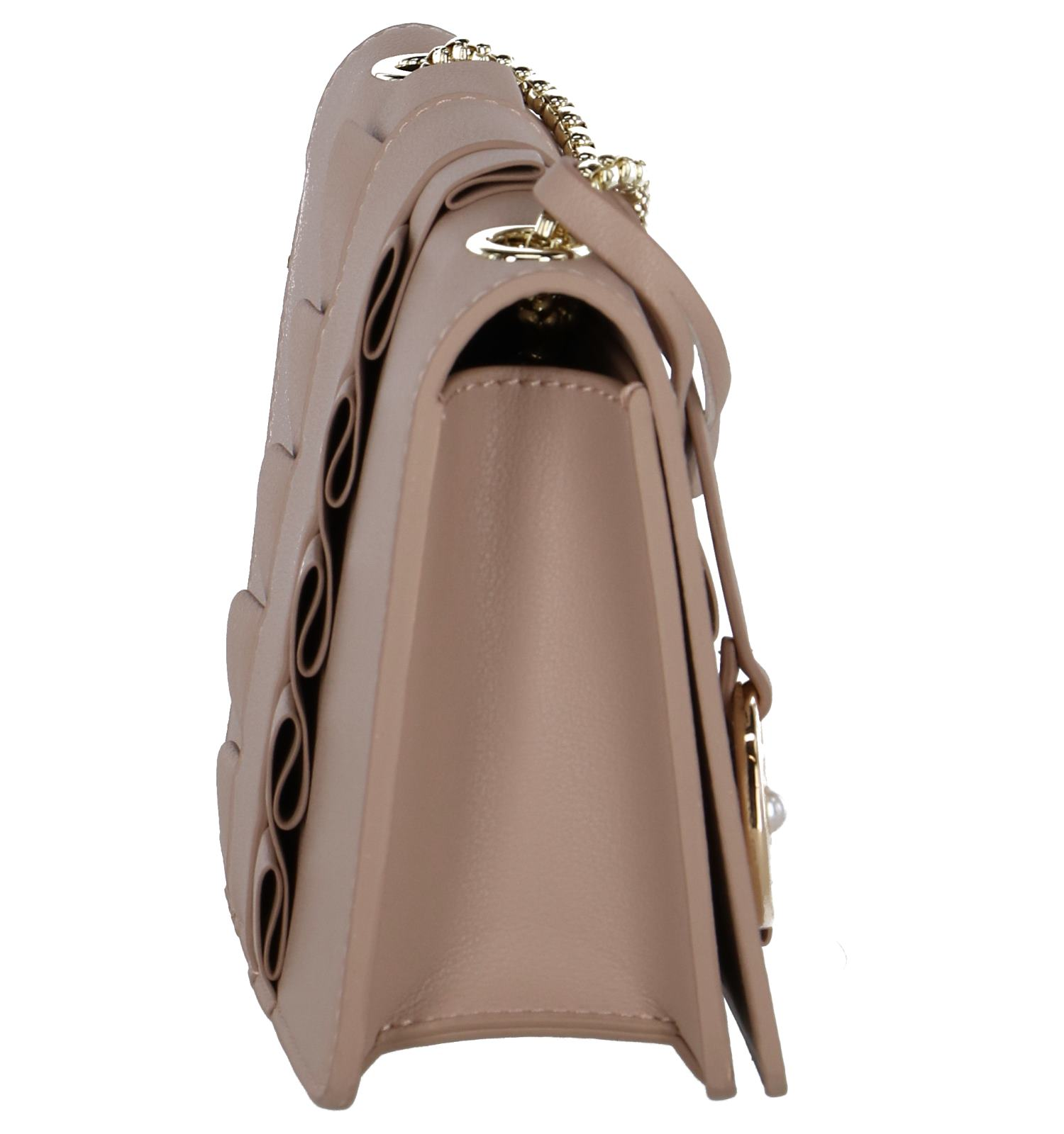 Crossbody Tas Of Donkerbeige Pearl Kisses SGUqzVMp