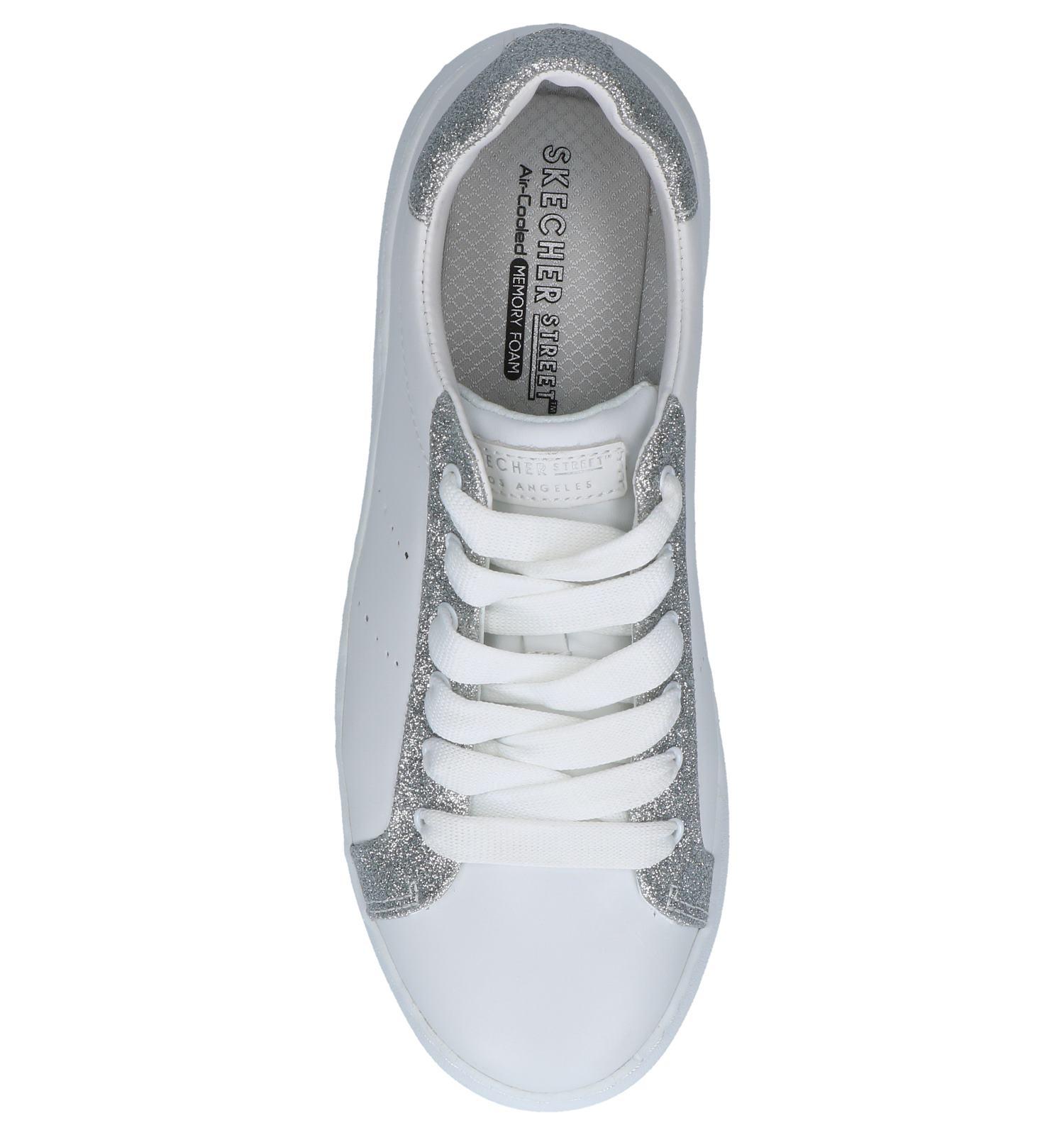 Witte Sneakers Skechers High Street Glitter | SCHOENENTORFS