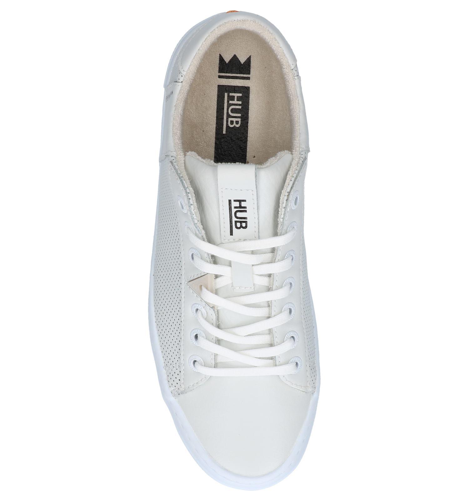 Witte Geklede Sneakers Hub Hook | SCHOENENTORFS.NL | Gratis