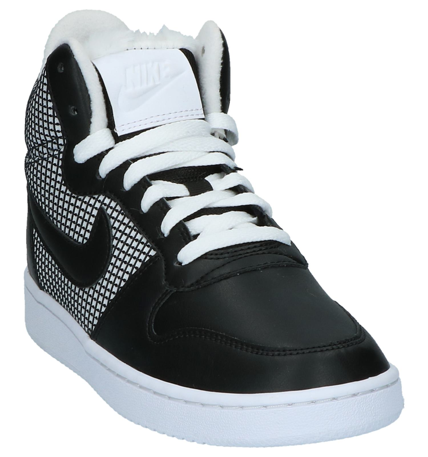 Nike Borough Met Hoge Sneakers Court Zwart Wit Nn0OPw8kX