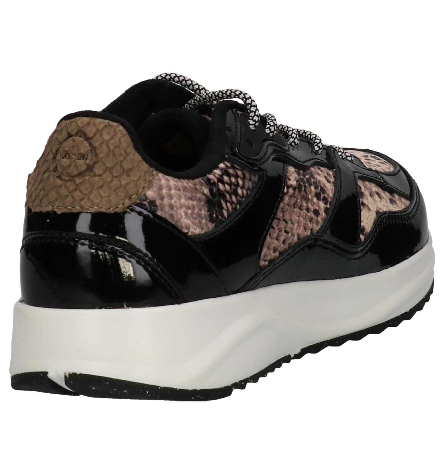Sneakers Snake Woden Woden Zwarte Sophie LjqR4Ac35S