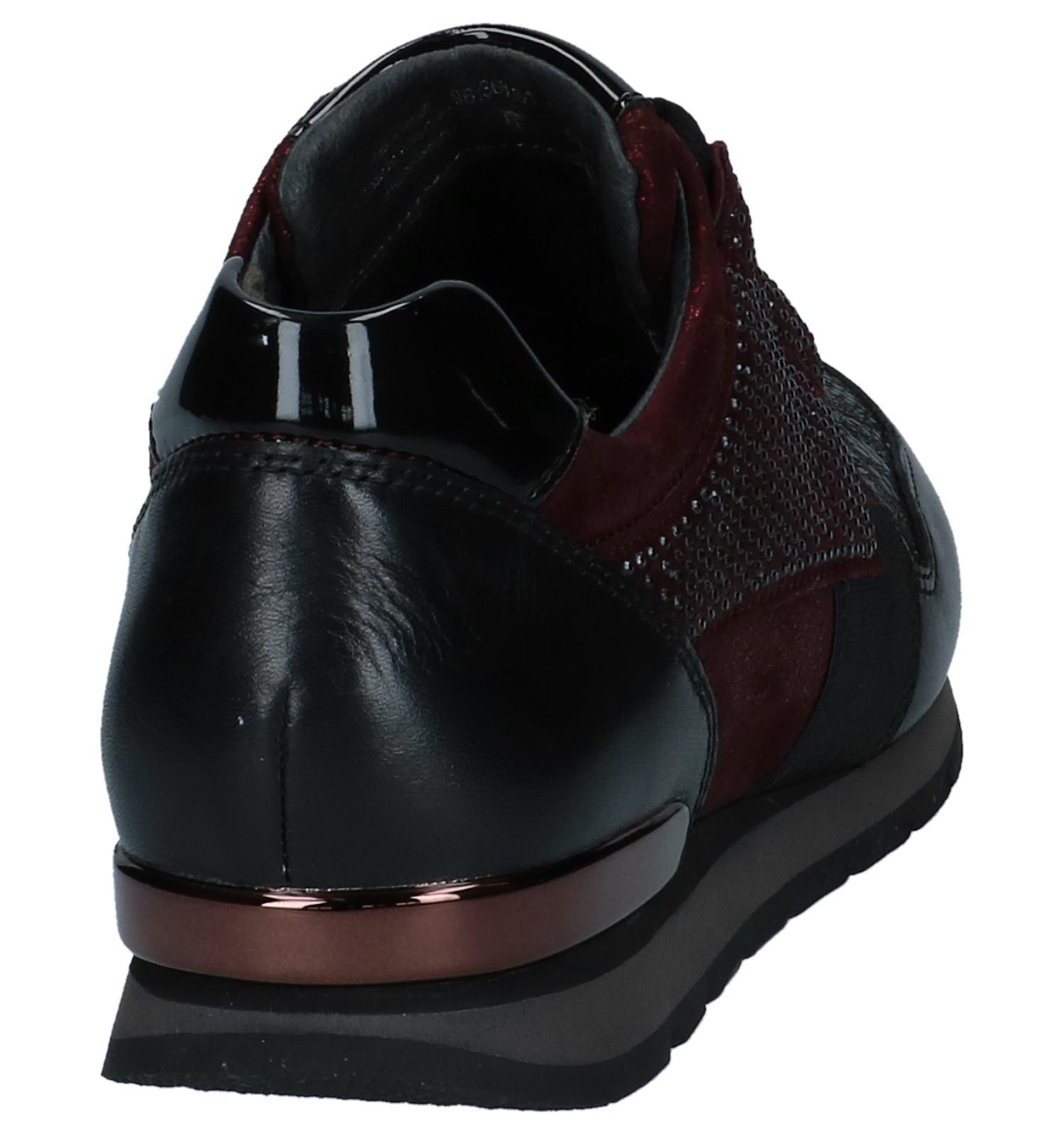 Bordeaux Geklede Sneakers Gabor Comfort | SCHOENENTORFS.NL