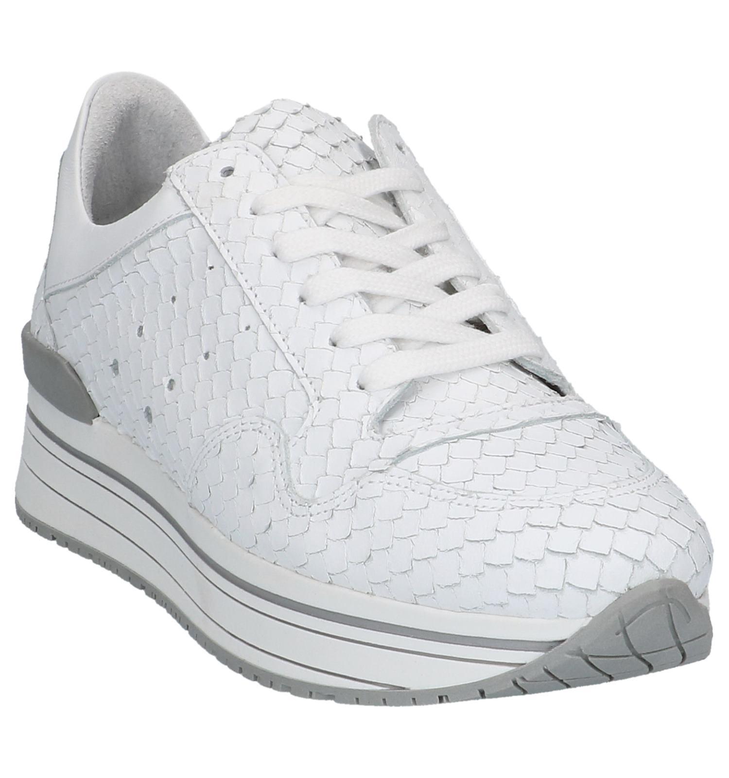 Geklede Sneakers Marike Lage Witte Tango 9HYIEWD2