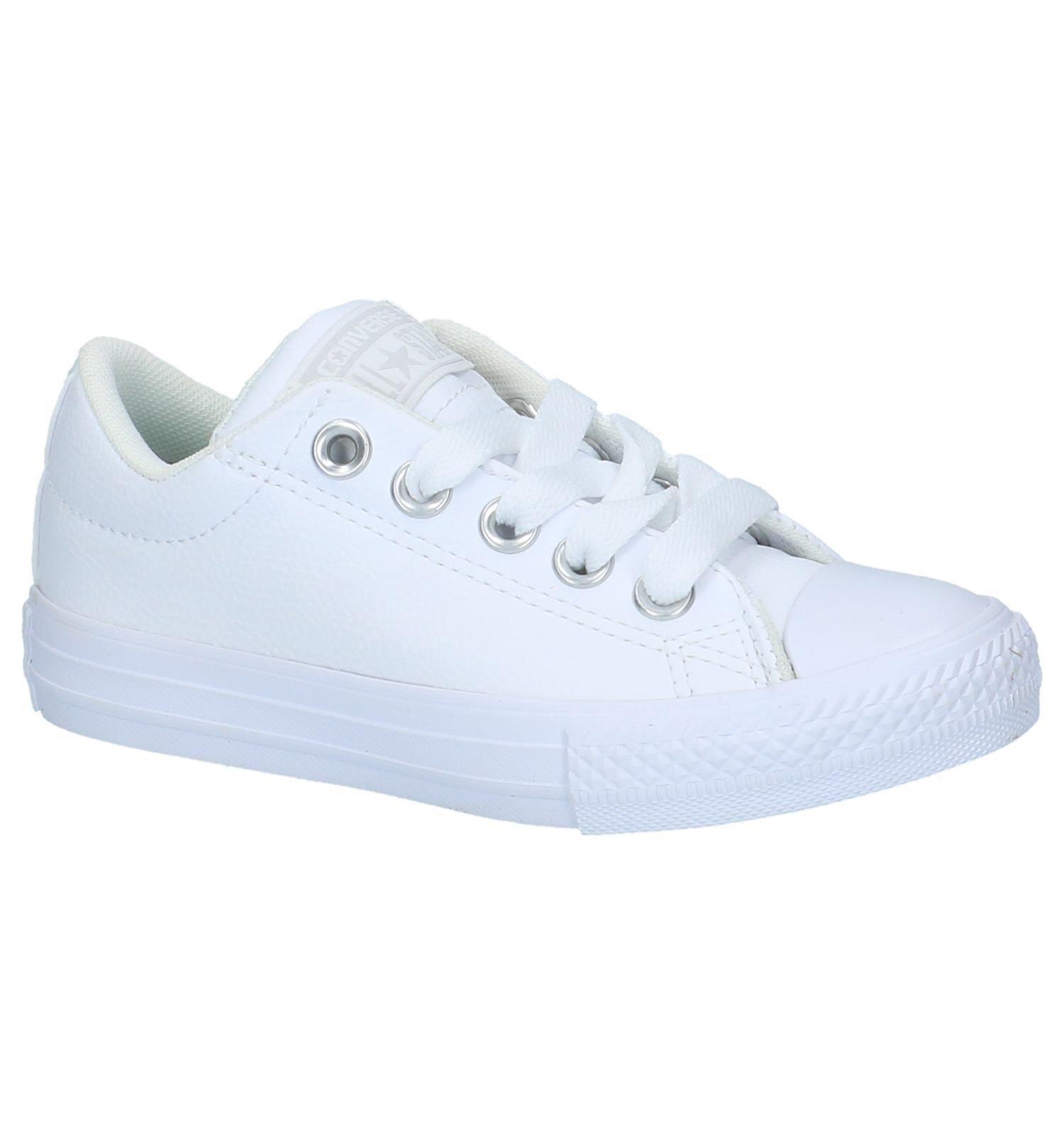 827ec4dcbe6 Witte Lage Sportieve Sneakers Converse All Star Chuck Taylor Street    SCHOENENTORFS.NL   Gratis verzend en retour