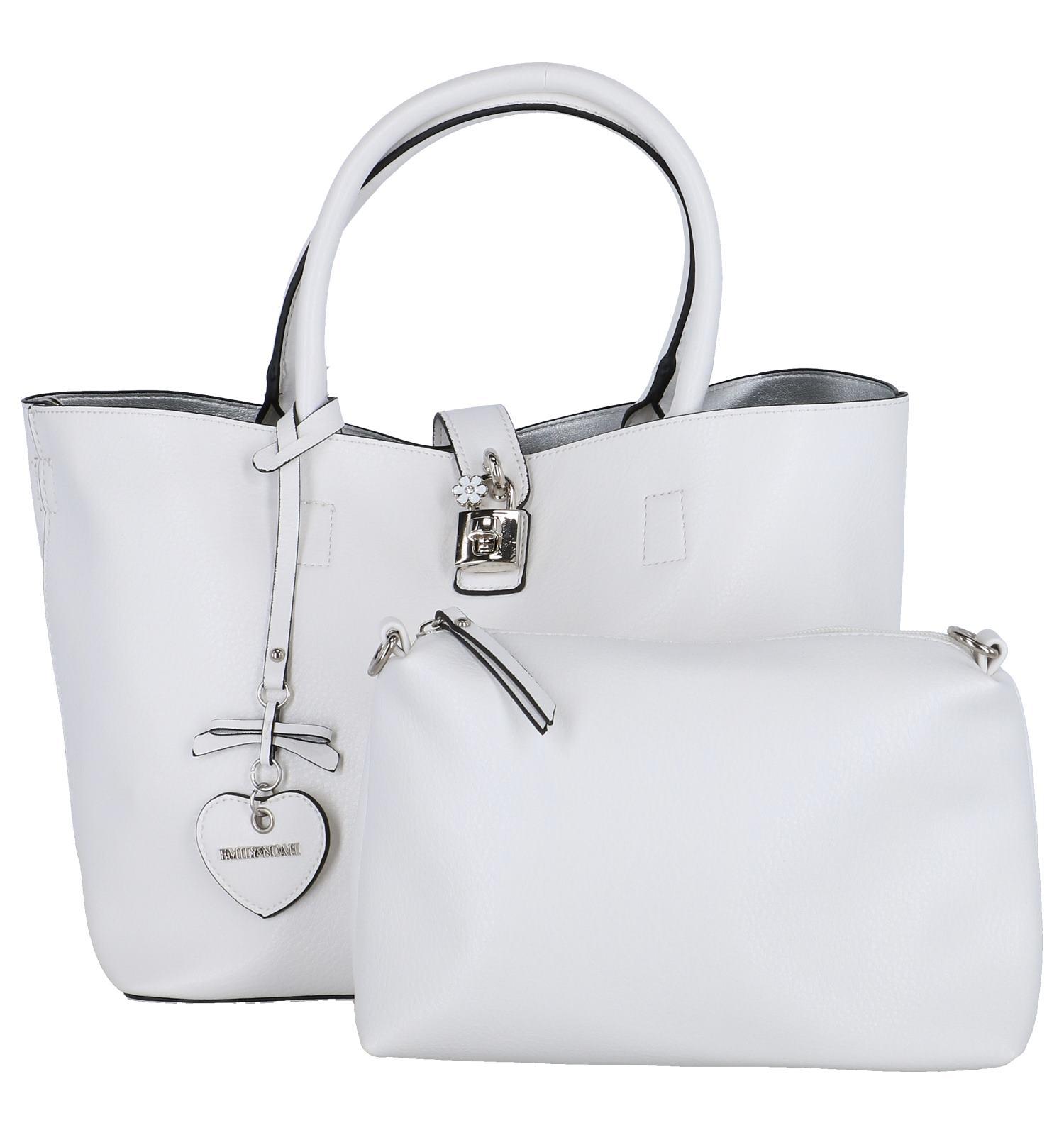 d9b21c899a5 Witte Bag in Bag Handtas Emily & Noah | SCHOENENTORFS.NL | Gratis verzend  en retour