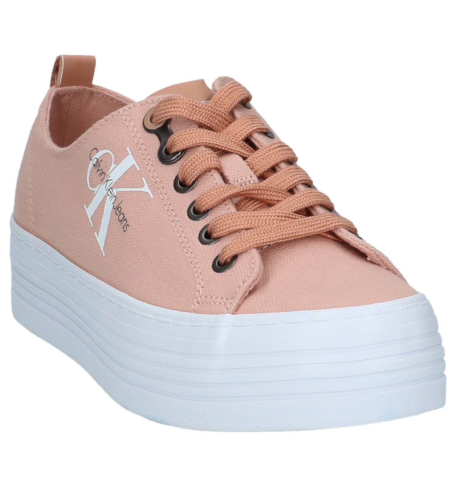 Calvin Sneakers Klein Geklede Roze Zolah Lage by6f7vYg
