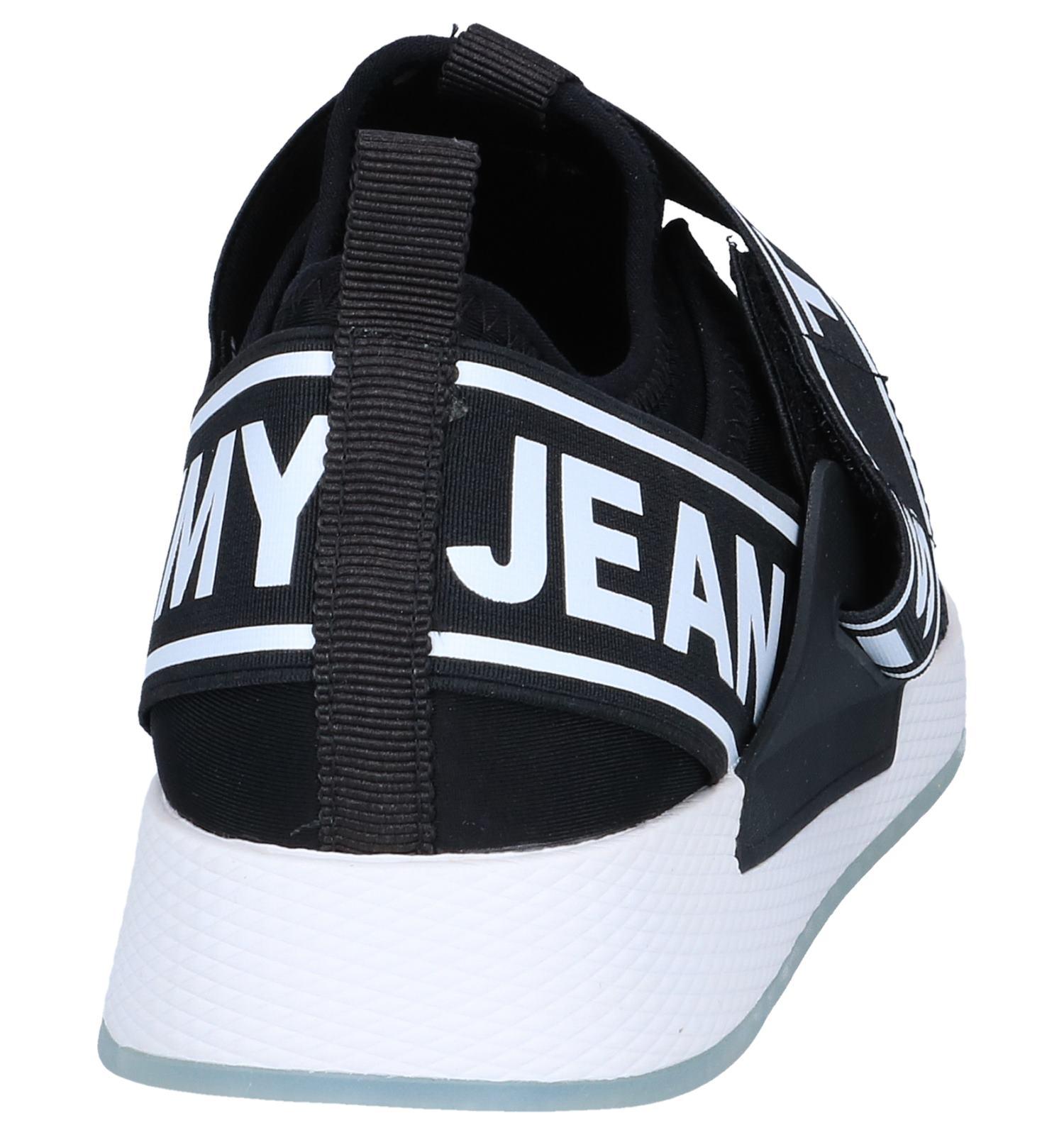 Sneakers Slip on Hilfiger Zwarte Jeans Tommy ON0P8wnkX