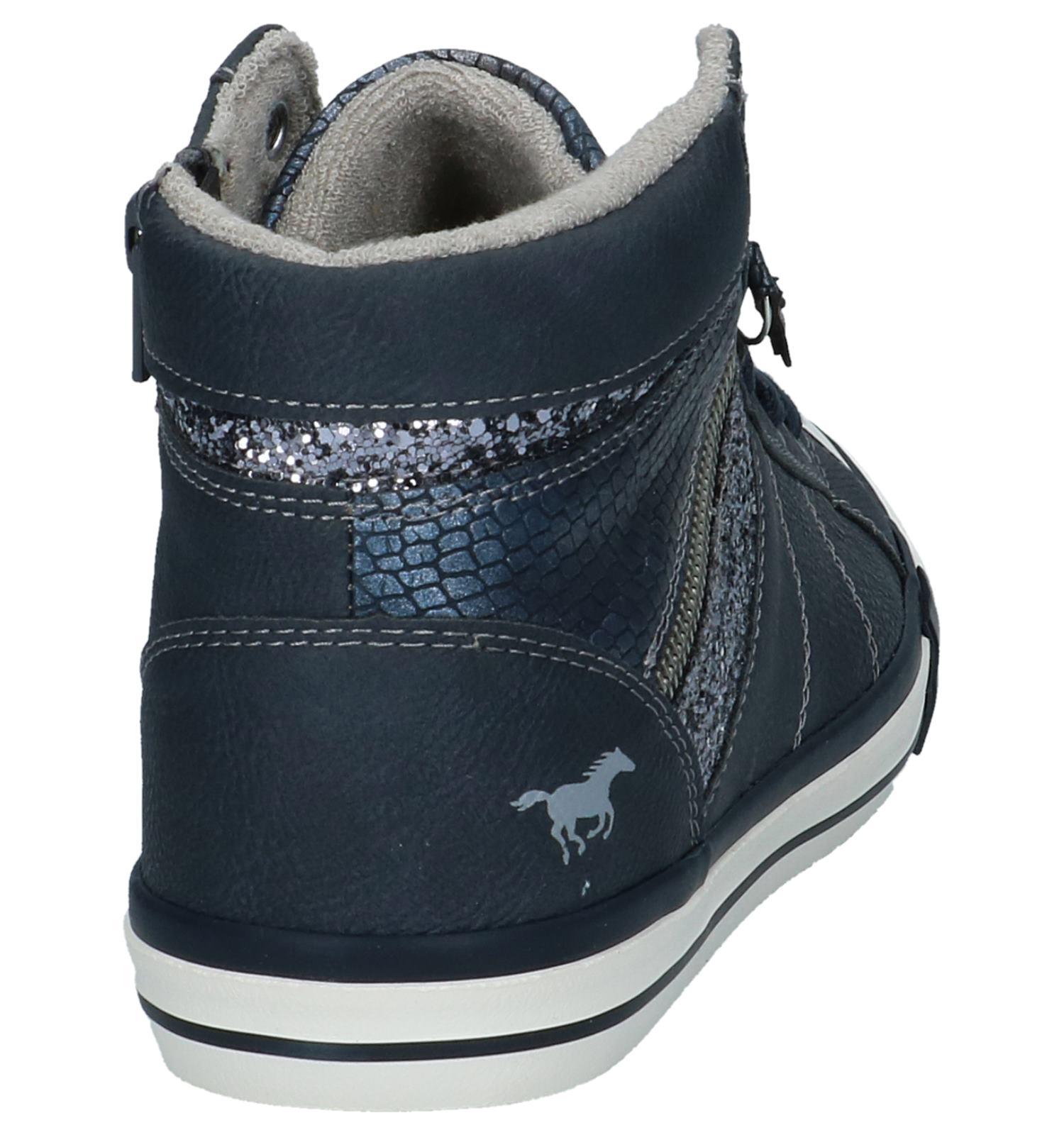 Hoge Geklede Donkerblauwe Sneakers Mustang Ybg6yf7v