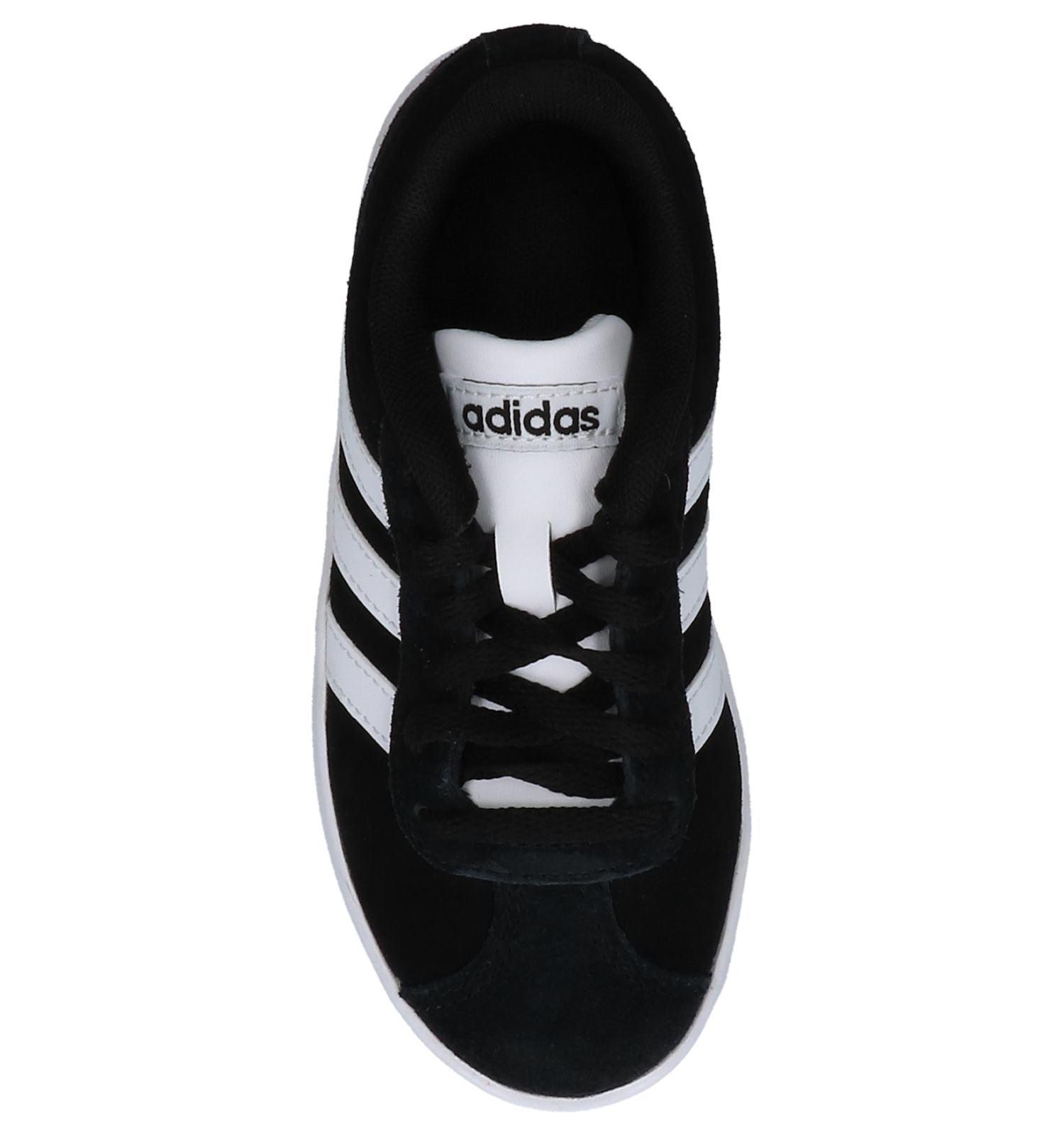 Zwarte adidas VL Court 2.0 K Sneakers | SCHOENENTORFS.NL