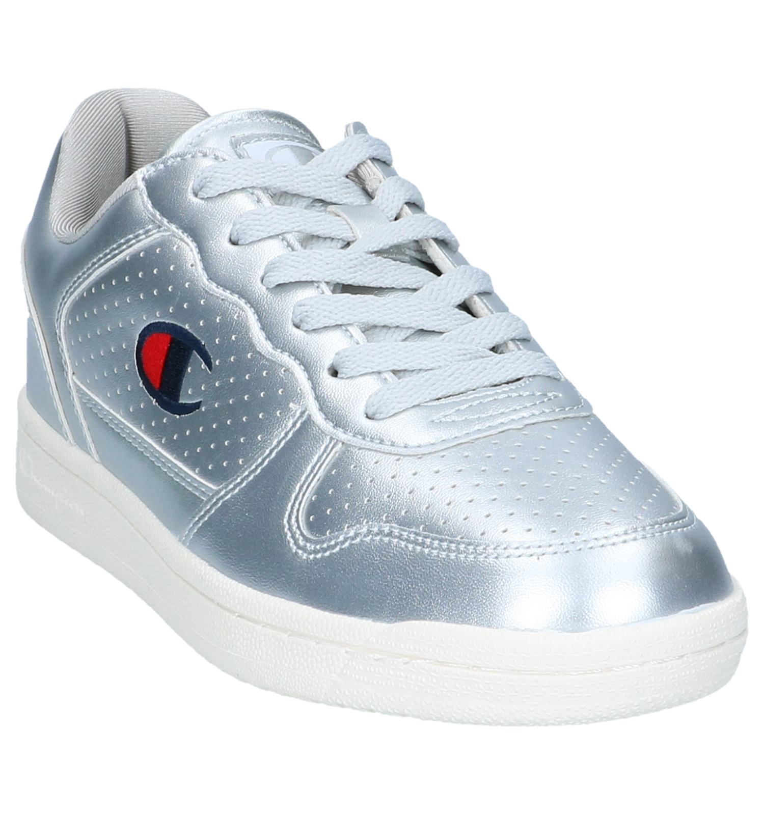 Metallic Sneakers Zilveren Basket Low Chicago Champion SVpUMzq