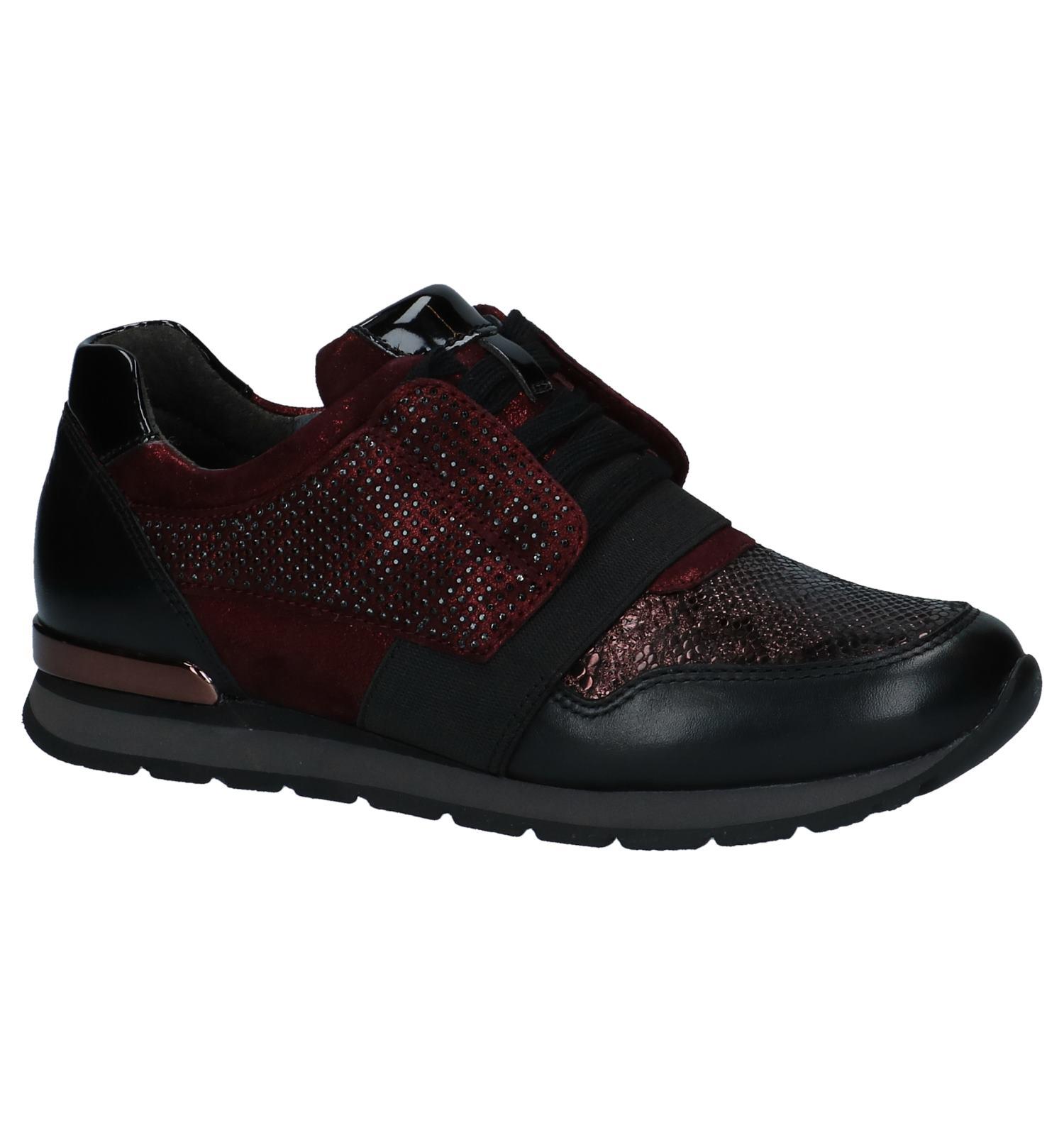 Bordeaux Geklede Sneakers Gabor Comfort | SCHOENENTORFS.NL | Gratis verzend en retour
