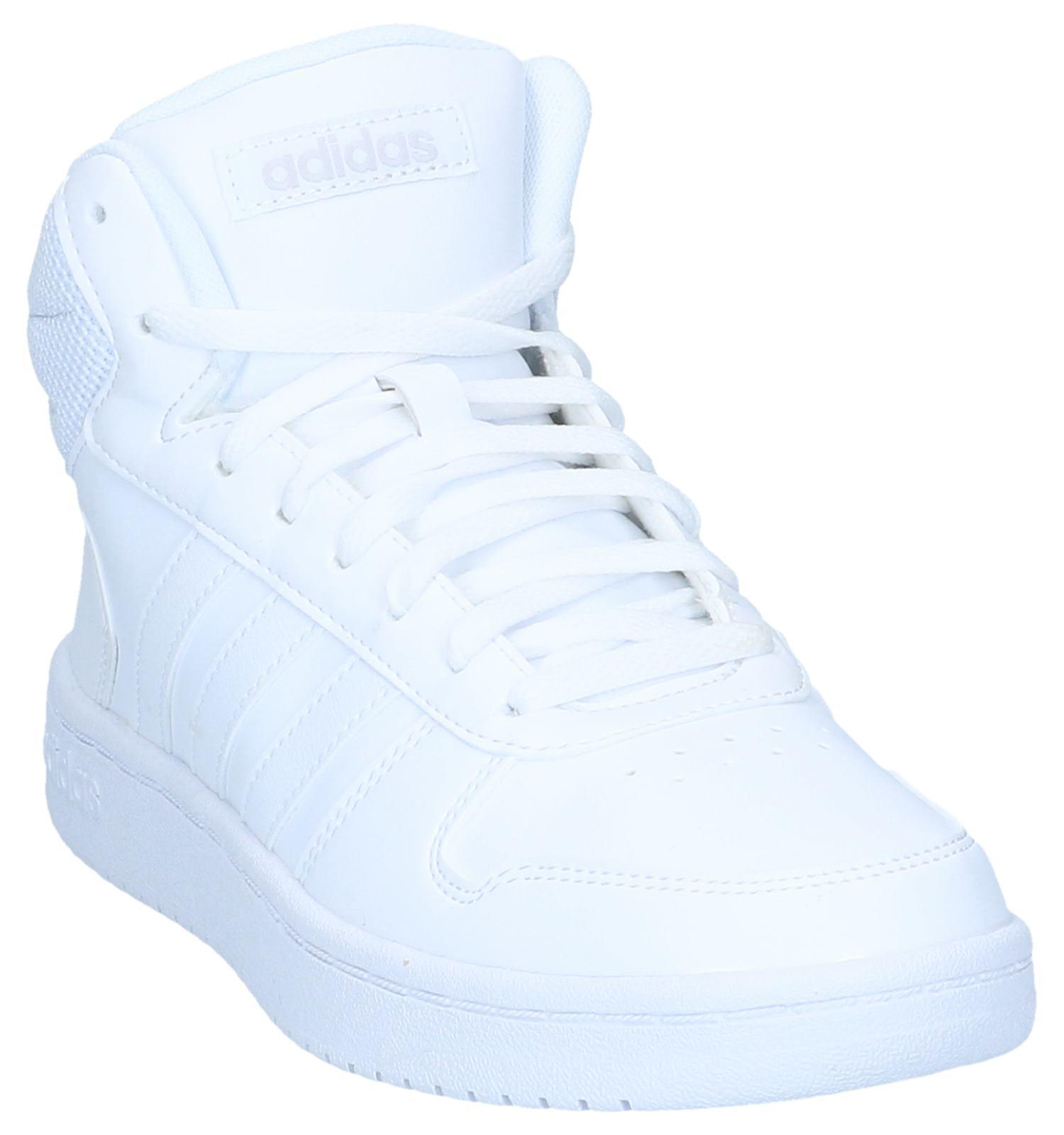 adidas Hoops 2.0 Witte Sneakers | SCHOENENTORFS.NL | Gratis