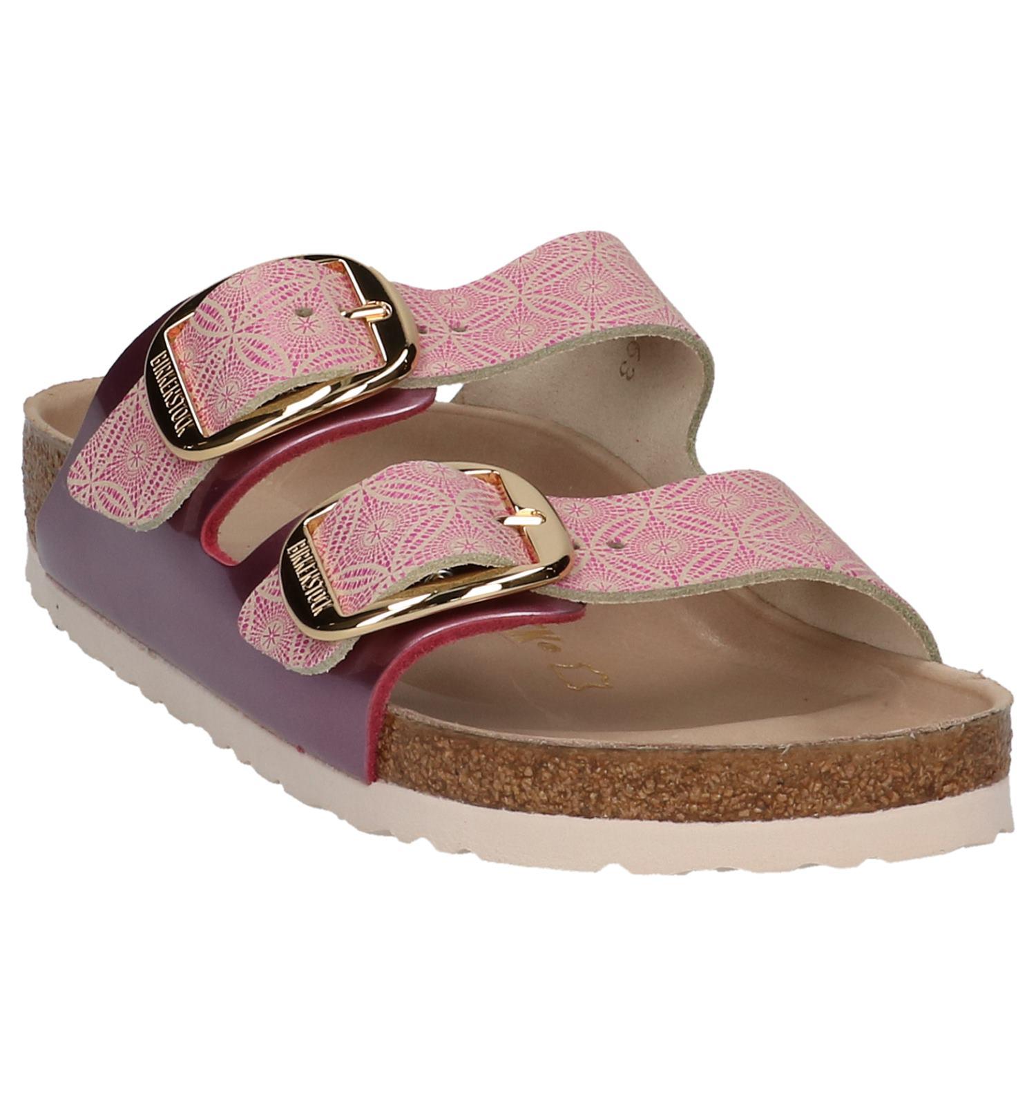 Birkenstock Roze Arizona Slippers Buckle Big wkPZ8nON0X
