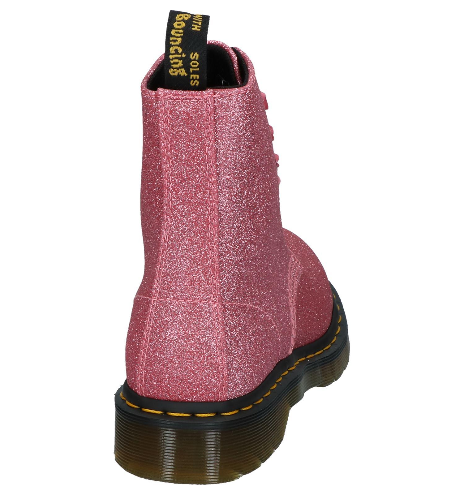 DrMartens Roze Pascal Roze Veterboots Glitter Glitter Roze DrMartens Veterboots Pascal qVpUzMGS