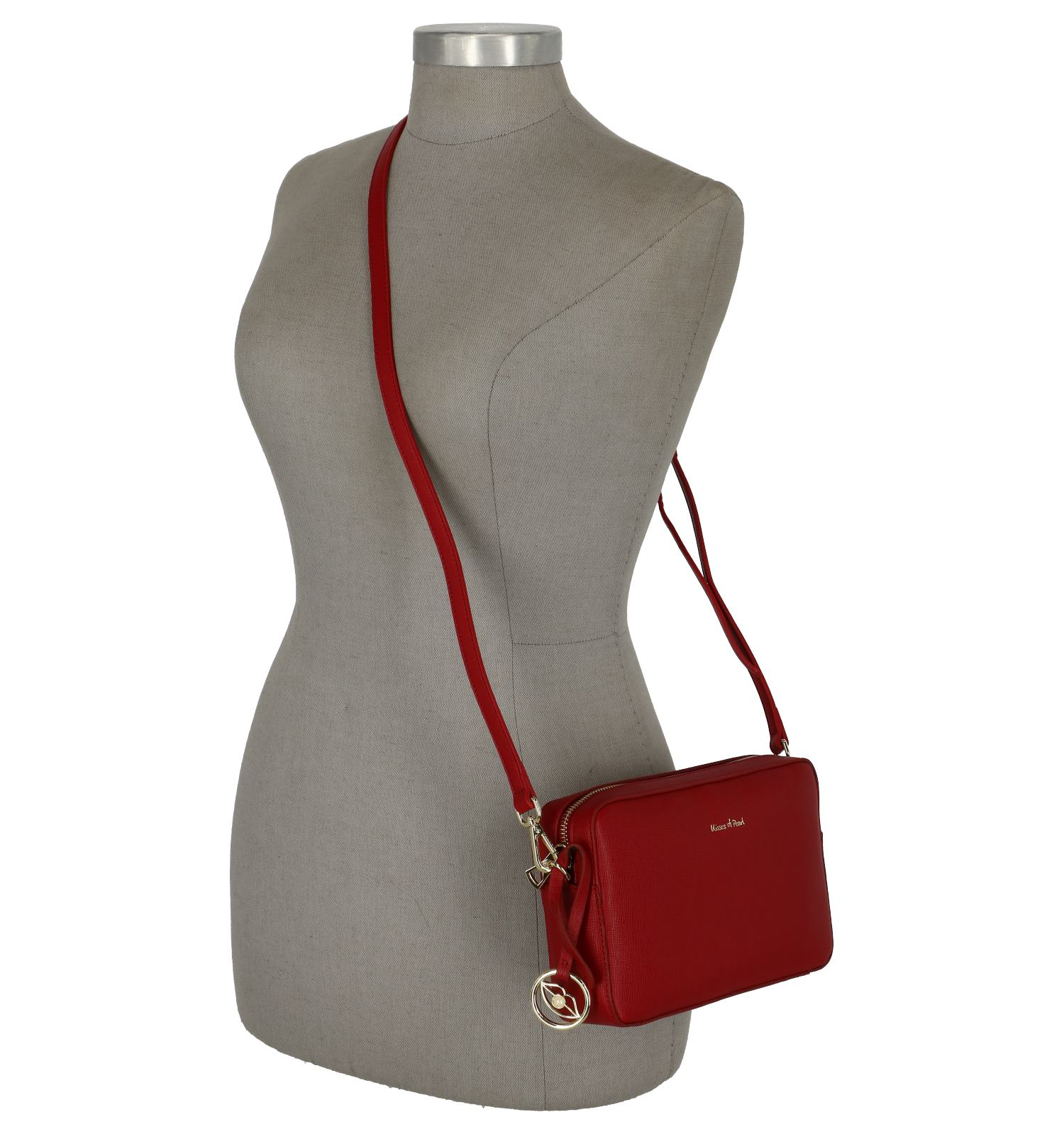 Of Rode Crossbody Pearl Veronique Kisses O8Pn0wXNk