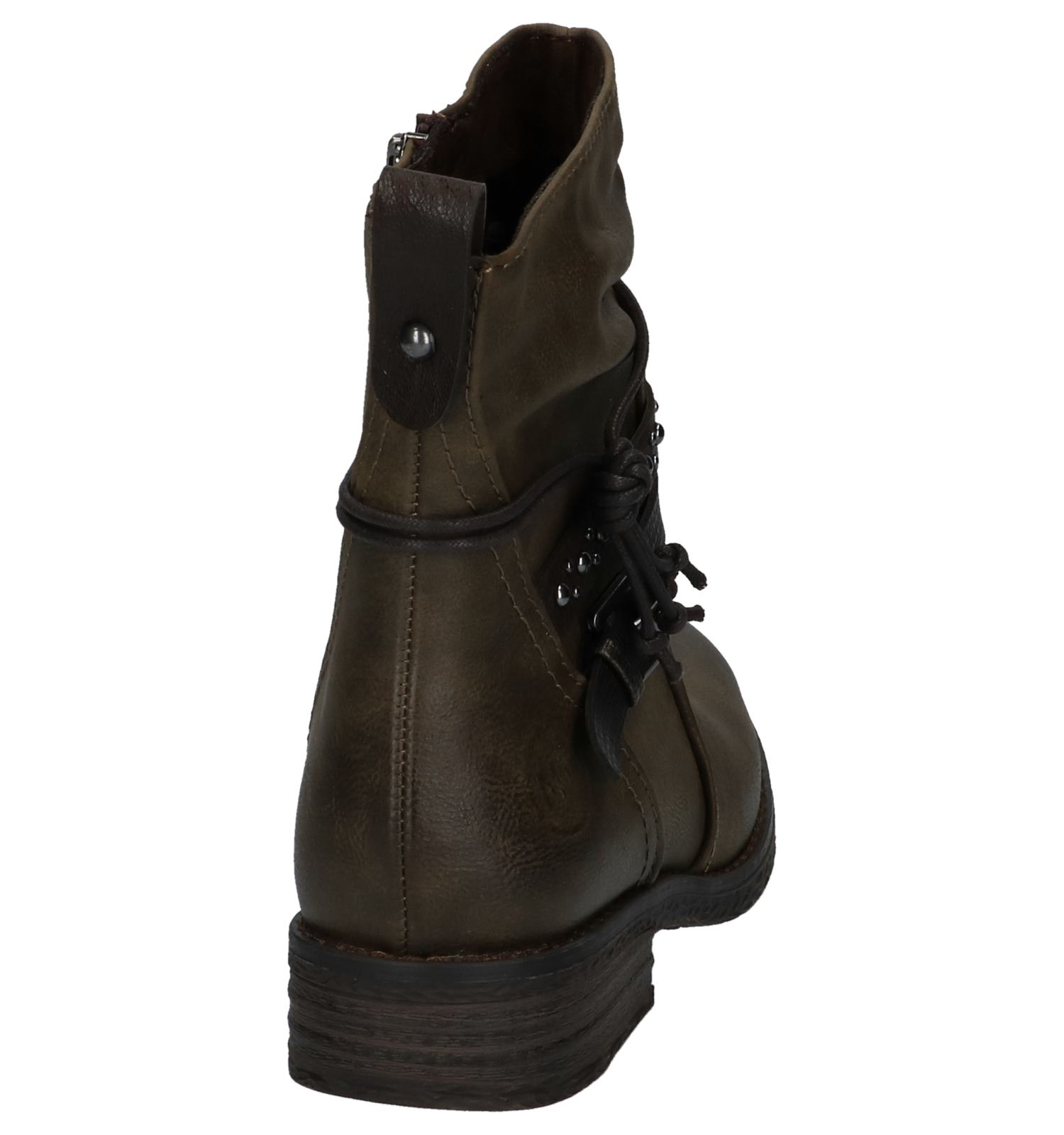 Marco Tozzi Kaki Met Studs Boots 0vN8wmn