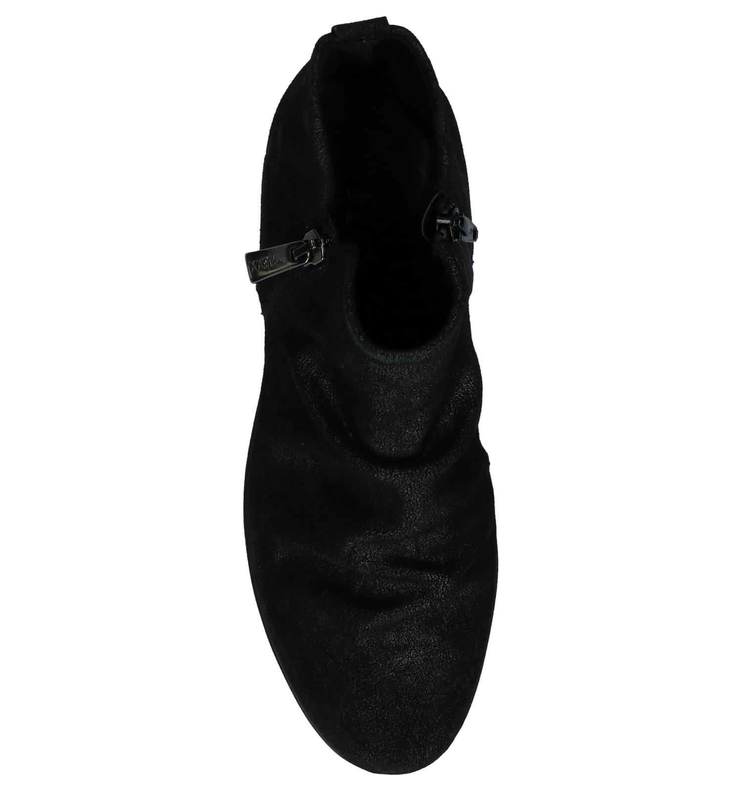 Zwarte Enkellaarzen met Sleehak The Flexx Slingshot