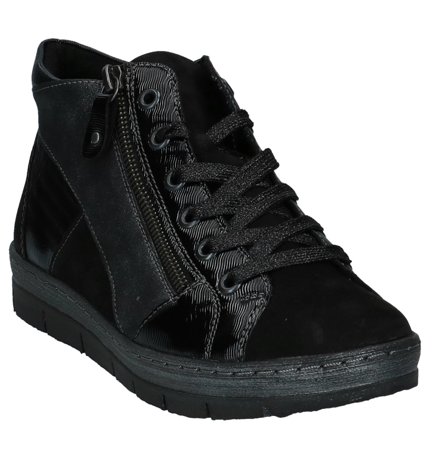 Geklede Zwart Hoge Sneakers Zwart Hoge Remonte Remonte Geklede Sneakers 2IED9H