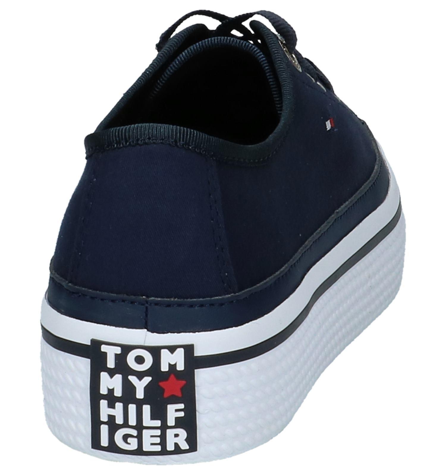 Hilfiger Coporate Lage Geklede Tommy Donkerblauwe Sneakers xsQtrdChB