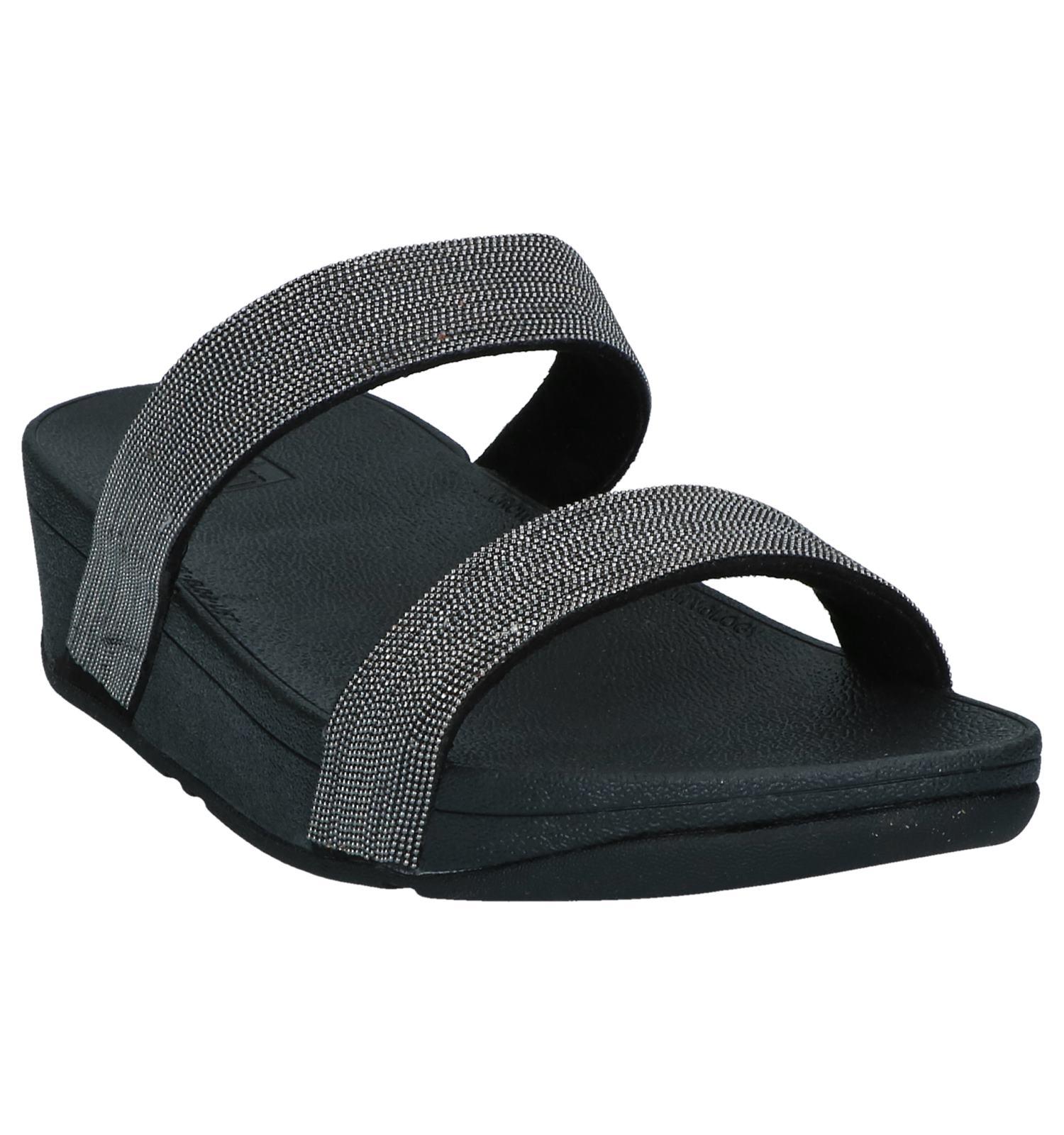 Shimmer Mesh Zwarte Lottie Slippers Fitflop cK1TlFJ